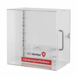 AED Armor Perspex Cabinet with Wall Box