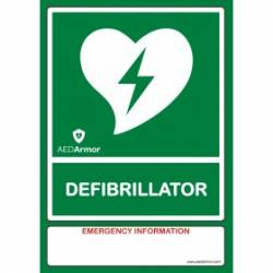 AED Armor A5 AED Wall Sticker