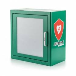 AED Armor Green Metal Indoor Cabinet