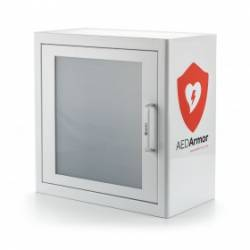 AED Armor White Metal Indoor Cabinet
