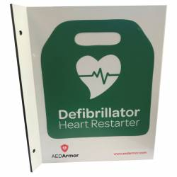 AED Armor 3D Wall Sign for Outdoor Use