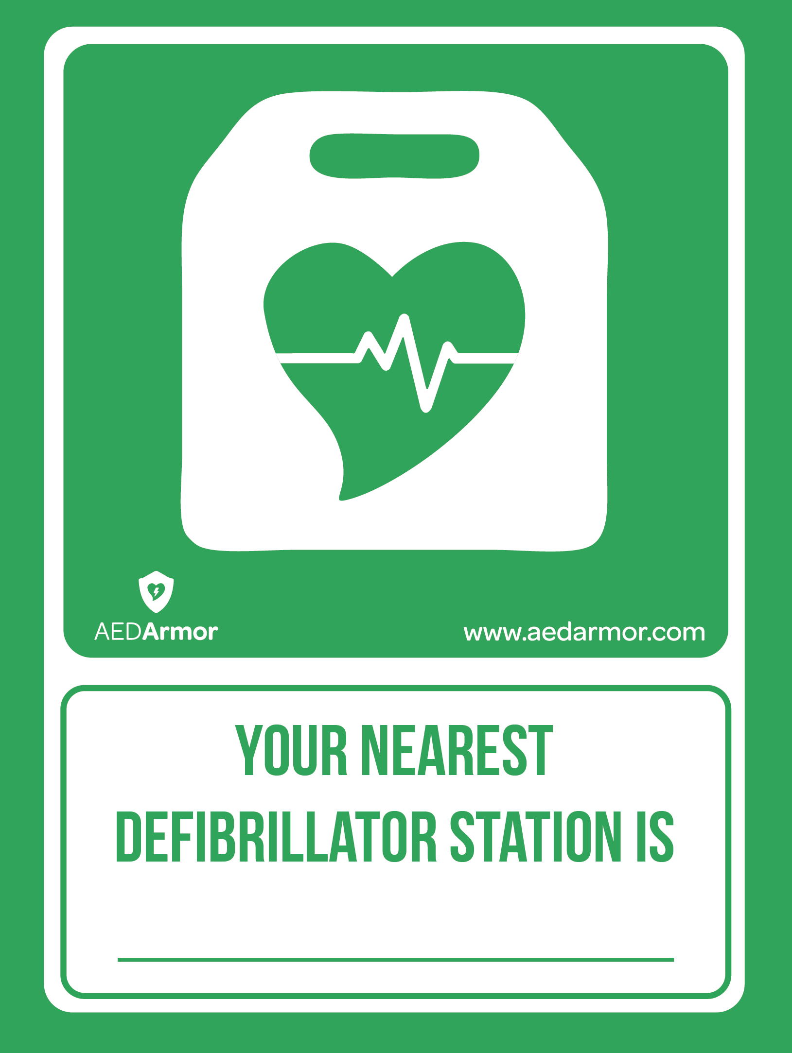 AED Armor 'Your Nearest Defibrillator Station' Poster