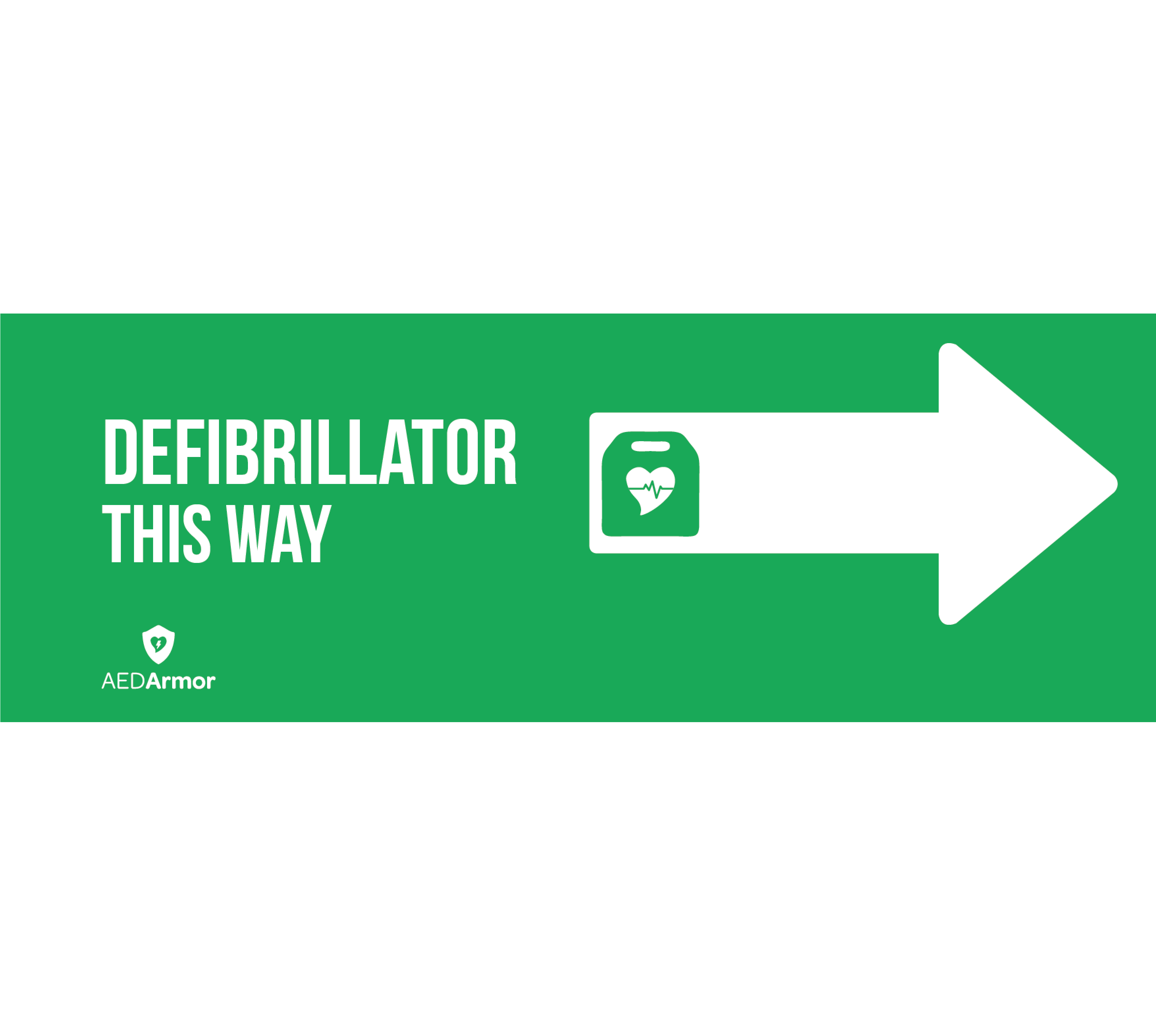 AED Armor 'Defibrillator This Way' Right